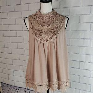 Xhilaration  cream blouse